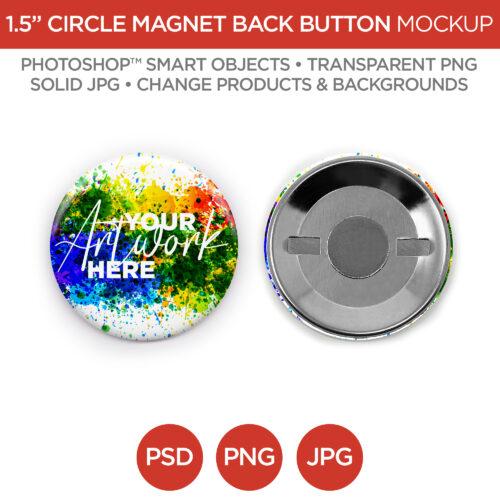"2.5"" Circle Magnet Back Button"