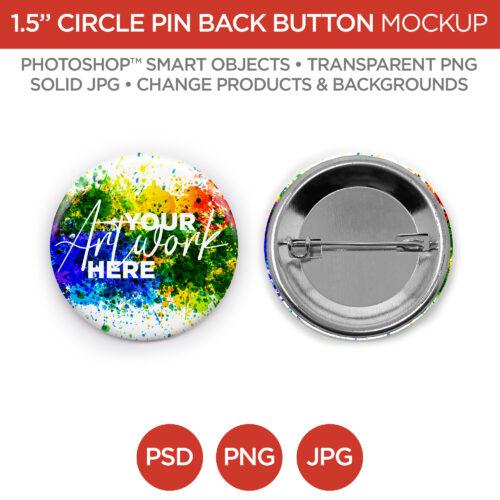 1.5 in Circle Pin Back Button Main V1