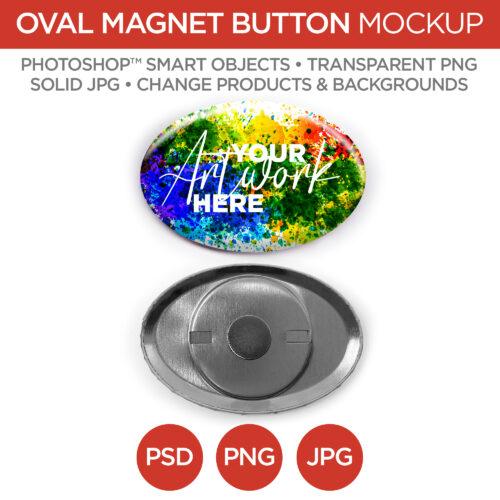 "1.5x2.25"" Oval Magnet Back Button Main V1"