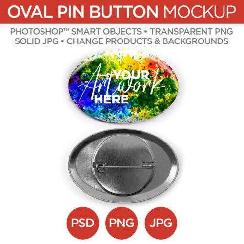 "1.5x2.25"" Oval Pin Back Button Main V1"