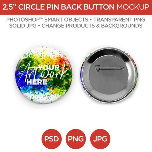 "2.5"" Circle Pin Back Button"