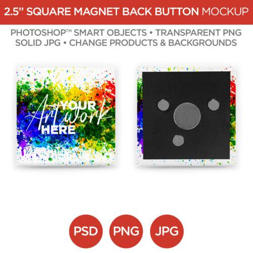 2 in Square Pin Back Button V1