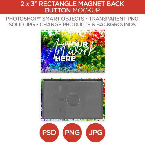 "2x3"" Rectangle Magnet Back Button Main V1"