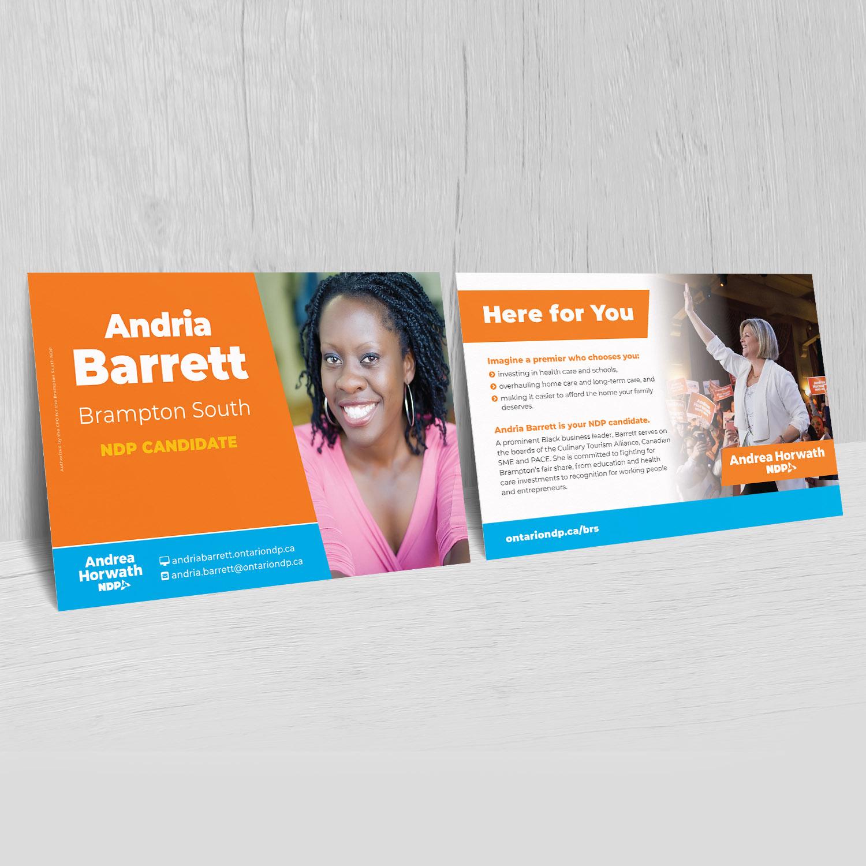 Andria Barrett - Vote For Andria - Flyers