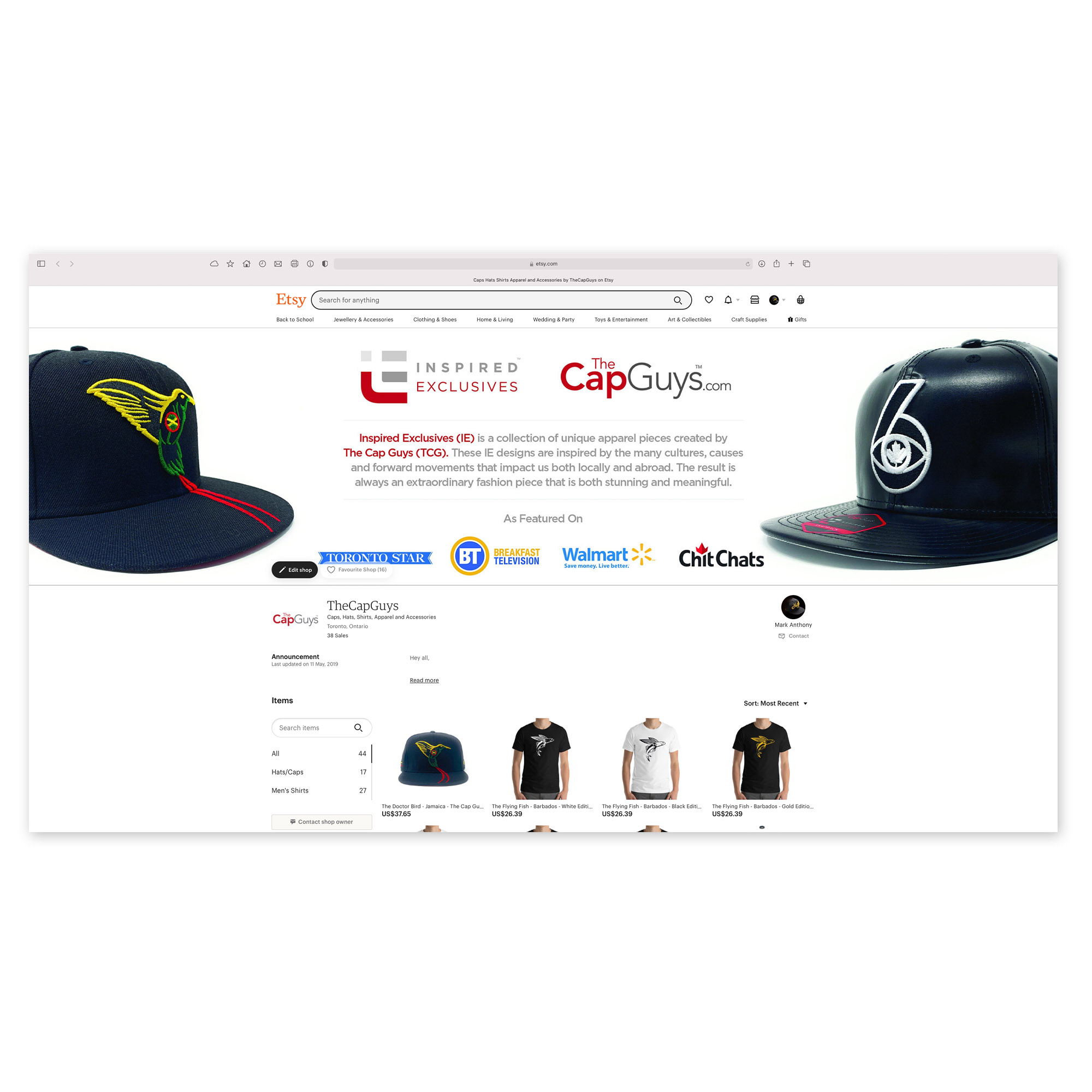 The Cap Guys - Etsy Store - Marketplaces