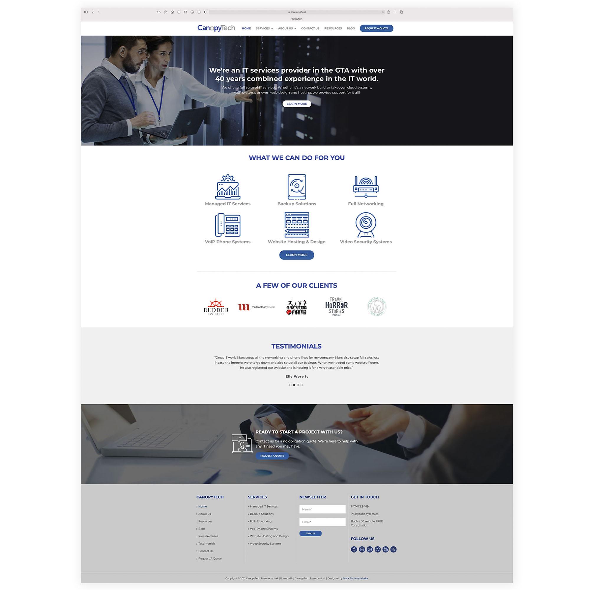 CanopyTech Resources Ltd. - Websites