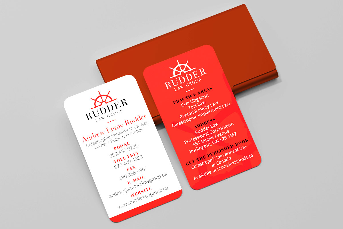 Rudder Law Group - Business Cards